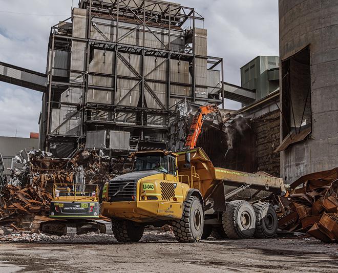 Liberty Industrial, Wallerawang Power Station, Power Generation, Demolition, Remediation, High Reach Excavator